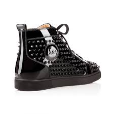 Boot Christian Louboutin Mens Sneakers Louis Spikes Mens Flat
