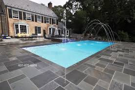 paving around swimming pool round designs