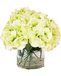 Glass Vase Cylinder Here U0027s A Great Price On Cream Green Hydrangea Bouquet In Round