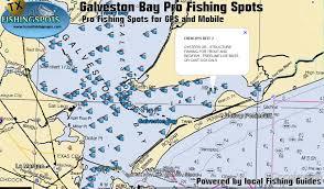 map of galveston professional level fishing maps gps fishing maps