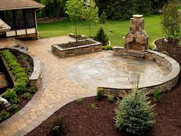 round patio stone amazing natural stone outdoor fireplace decor color ideas best at