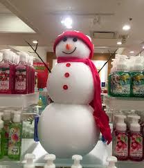 bath u0026 body works christmas display with snowman bath u0026 body