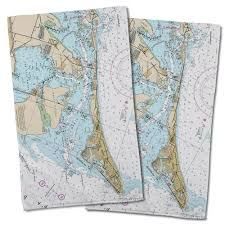Map Of Anna Maria Island Florida by Nautical Chart Hand Towels Map Towels Chart Towels
