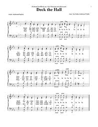 deck the halls voice satb sheet cantorion free sheet