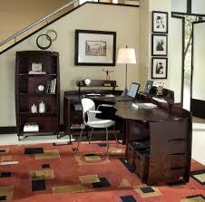 interesting l shaped chocolate wooden best home office desk black