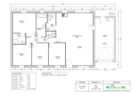 plan maison 4 chambres plan maison 100m2 4 chambres 10 lzzy co