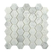 Home Depot Bathroom Design Tool by Splashback Tile Hexagon White Carrera 12 In X 12 In X 8 Mm Floor