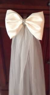 wedding pew bows 49 best wedding aisle decoration images on church