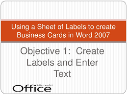 Business Card In Word Creating Business Cards With Word 2007