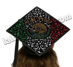 graduation cap toppers si se pudo mexican flag graduation cap topper card stock canvas