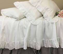 White Ruffle Duvet Cover Queen White Ruffle Duvet Cover Natural Linen Linen Bedding Ruffle