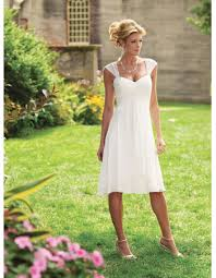 informal wedding dress simple knee length informal wedding dresses empire