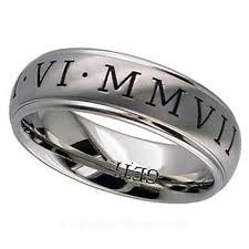 can titanium rings be engraved 18 best numeral engraved rings images on