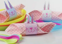 easter bunny napkin rings kids craft room