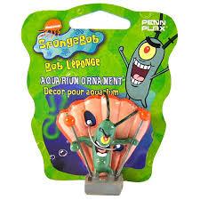 spongebob spongebob plankton aquarium ornament aquarium character