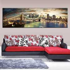 painting guitar picture more detailed picture about modern modern landscape painting the brooklyn bridge canvas prints large canvas paintings wall pictures for living room