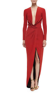 Draped Gown J Mendel Long Sleeve Draped Silk Wrap Gown Where To Buy U0026 How