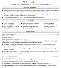 Examples Of Office Manager Resumes by 16 Free Sample Office Manager Resume U2013 Sample Resumes 2016