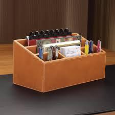 Desk Mail Organizer Unifier Leather Desk Organizer Levenger
