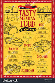 mexican food menu restaurant cafe design stock vector 669369742