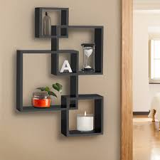 home decor furniture bcp intersecting squares floating shelf wall