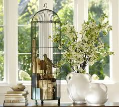 home interior bird cage decorating with vintage bird cages