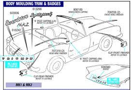 triumph spitfire body moulding trim and badges mk1 mk2 rimmer bros