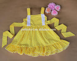 baby frock fancy smocking dress for kids cotton baby dress