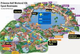 disney epcot map disney princess half weekend 10k course epcot restroom map run