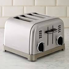 Calphalon 4 Slot Stainless Steel Toaster Cuisinart 4 Slice Metal Classic Toaster Williams Sonoma