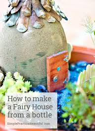 how to make a fairy garden fence simple practical beautiful turn a used bottle or container into a beautiful house for your fairy garden