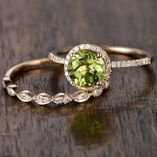 peridot engagement rings cut peridot engagement rings yellow gold halo ring marquise