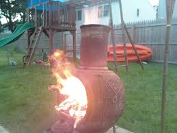 Chiminea Cover Lowes by Exterior Appealing Red Iron Chiminea For Exciting Outdoor Heater