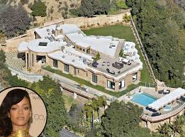 celebrities homes rihanna from celebrity mega mansions mansion pacific palisades