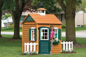 endearing picture of traditional solid oak wood cool kid playhouse