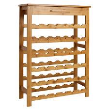 amazon com kinbor bamboo wine standing rack storage with drawer