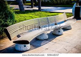 Outdoor Garden Bench Park Wooden Bench Outdoor Garden Bench Stock Photo 515389279