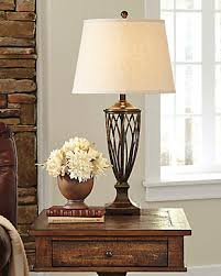 Side Table With Built In Lamp Table Lamps Illuminate Your Space Ashley Furniture Homestore