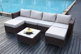 6 seater patio furniture set yakoe papaver 6 seater brown rattan corner sofa set furniture maxi
