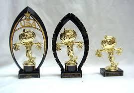 set of 3 halloween trophies pumpkin scarecrow trophy halloween usa