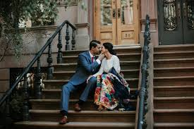 photographers in nyc priyant shelly new york city indian engagement shoot