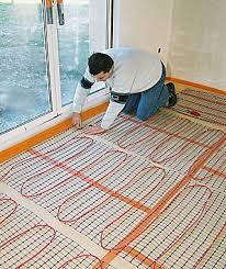 floor heating electric brilliant on floor with electric