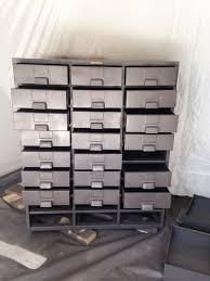 Vintage Metal Storage Cabinet Restored Vintage Metal Hardware Cabinet Little House Of Four