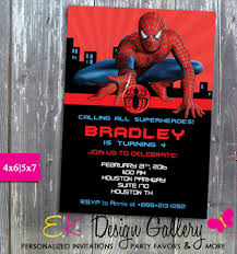 spiderman birthday party spider man invitation printed