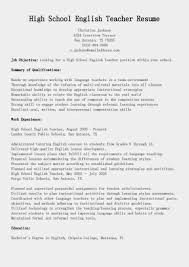 Job Resume Matter by High English Teacher Resume Template Offering Simple Job