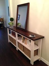 Entryway Table With Baskets Table Ladyroom Club
