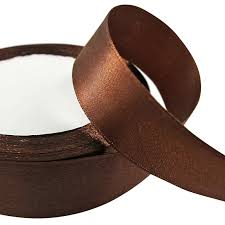 brown ribbon 22 metres single faced sided satin ribbon 6mm 10mm 15mm 25mm 38mm
