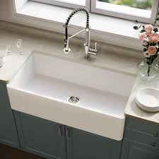 how to install an apron sink in an existing cabinet vigo matte undermount apron front farmhouse 36 in x 18 in matte white single bowl workstation kitchen sink