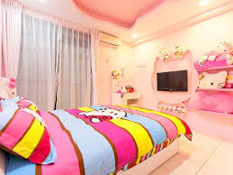 Colorful Bedroom Design by Colorful Bedroom Design For Teenage Girls With Hello Kitty