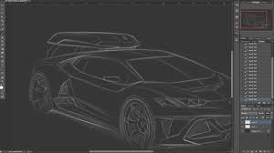 lamborghini huracan sketch design sketch for lamborghini huracán body kit timelaps part